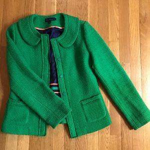 Boden green Wool Boucle Parisienne Jacket